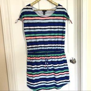 GAP Striped Cotton Easy Dress With Drawstring M